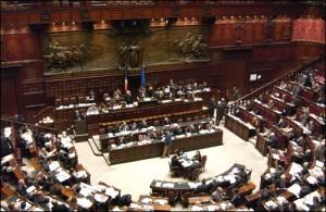 Processo breve, il P. Democratico legge la Costituzione in Aula Camera