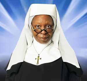 Whoopy Goldberg per Sister Act a Milano invita il Papa