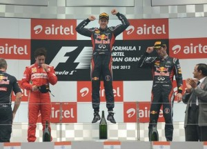 Formula 1 2012, GP d'India: vince ancora Vettel, Alonso recupera e chiude 2° [video]