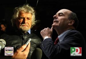 """Beppe Grillo a Bersani: """"è uno stalker politico"""", e lui risponde su twitter"""
