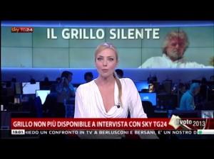 """Beppe Grillo annulla l'intervista Sky: """"preferiamo andare nelle piazze, tra la gente"""""""