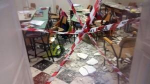 Tragedia sfiorata: crollato il soffitto di una scuola elementare a Ostuni