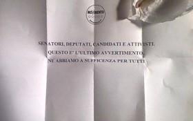 """M5S, Di Battista: """"Arrivata una lettera con un proiettile e minacce"""""""
