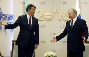 """Renzi, storica visita in Russia: """"Chiederemo stop rinnovo automatico delle sanzioni"""""""
