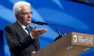"""Presidente Mattarella al Meeting di Rimini: """"Vietando l'ingresso non si risolve l'immigrazione"""""""