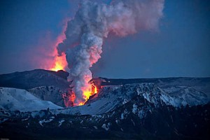 Vulcano Islanda: nube in Germania
