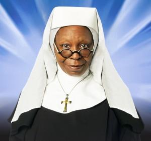 Whoopy Goldberg per Sister Act a Milano invita il Papa