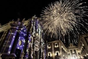Giochi Pirotecnici, festa di Sant'agata - Duomo