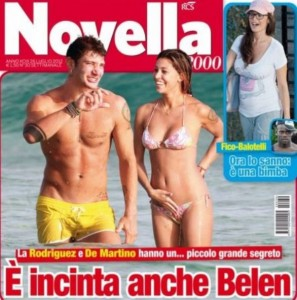 Belen Rodriguez incinta di Stefano De Martino, clamoroso scoop di Novella 2000