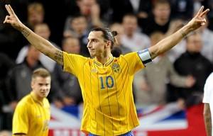 Zlatan Ibrahimovic fa poker contro l'Inghilterra e segna il gol del secolo