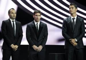 Finalisti Pallone d'Oro 2012: ancora una volta Iniesta, Messi e Cristiano Ronaldo