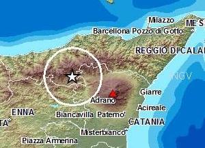 Terremoto tra Messina e Catania, 4 gennaio 2013: scossa di magnitudo 4.3