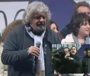 """Grillo a Roma per lo """"Tsunami Tour"""", 800 mila a Piazza S.Giovanni"""