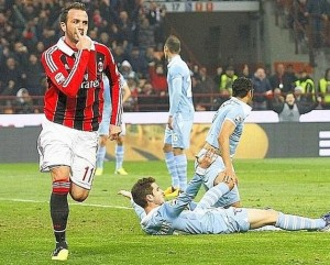 Milan-Lazio 3-0: video gol e interviste Allegri-Petkovic (Serie A 2012-13)