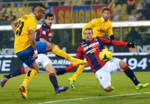 Bologna-Juventus: risultato finale 0-2, in rete Vidal e Chiellini