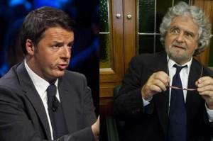 """Renzi a R.Emilia: """"siamo il doppio dei grillini"""", ma le foto lo smentiscono"""