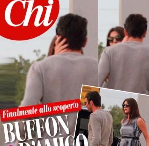 Gigi Buffon e Ilaria D'Amico, immortalato il primo bacio