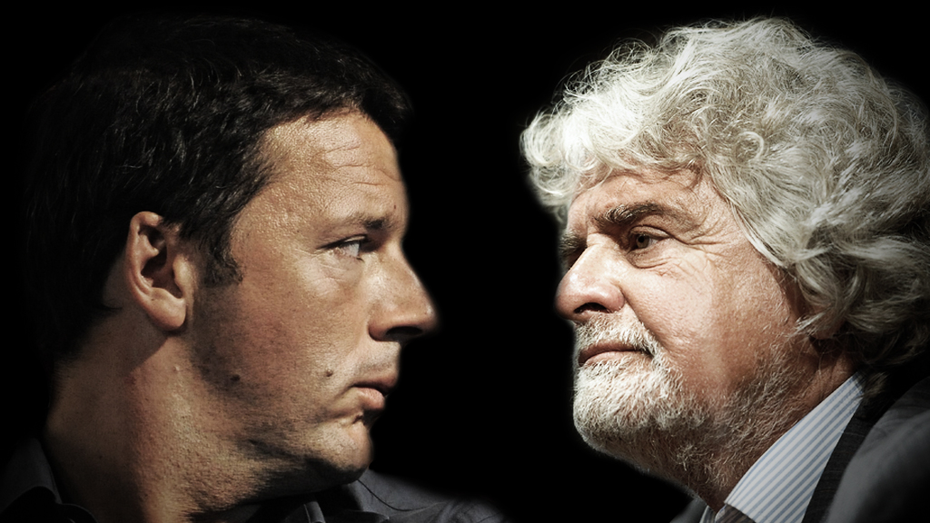 Riforme: si spacca il Pd di Renzi, Grillo manda un messaggio agli italiani
