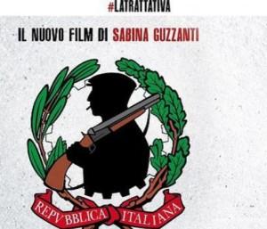 """Sabina Guzzanti, la locandina de """"La Trattativa"""" scatena le ire del Pd"""
