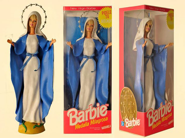 Barbie si veste da Vergine Maria ed è subito polemica