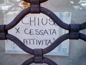 Crisi economica 2014, chiude un negozio su due