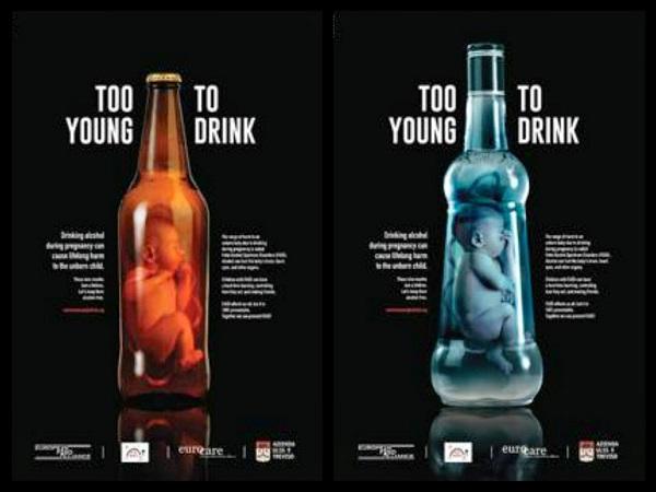 Donne in gravidanza, la campagna choc per non bere [FOTO]