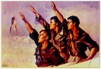 Il saluto romano è reato, lo dice la Cassazione