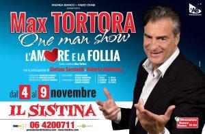 """Max Tortora torna in scena al Sistina con """"L'amore e la follia"""""""