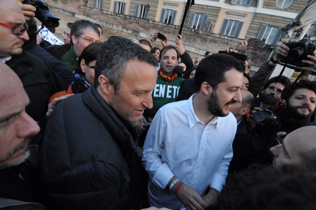 """Salvini in Veneto alla cerimonia per Beslan: """"Basta parlare di Tosi"""""""