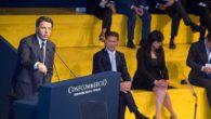 """Renzi fischiato sugli 80 euro all'assemblea di Confcommercio. M5S: """"Censurato dal Tg1"""""""